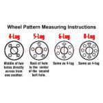 How to measure wheel adapter bolt pattern on rim adaptor.