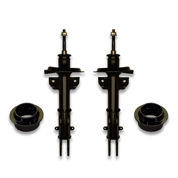 Lifted struts for 1997, 1998, 1999, 2000, 2001 and 2002 Cadillac Eldorado and DeVille cars. Extended length for max height.