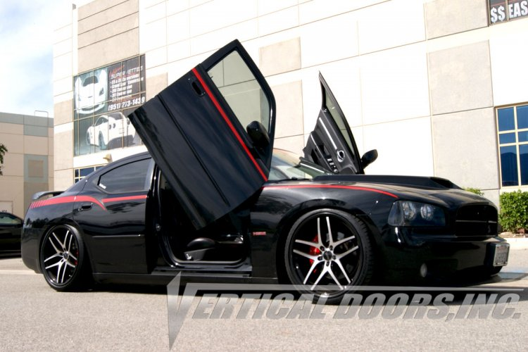 Dodge Charger R/T Vertical Doors Lift Kit Hinges. Bolt On Lambo Door Kit