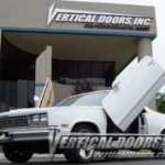 Chevrolet El Camino SS vertical lambo doors kit. Bolt on VDI hinges kit fits 1977, 1978, 1979, 1980, 1981, 1982, 1983, 1984, 1985, 1986 and 1987 Chevy El-Caminos. Quick and easy installation using our simple guided installation manual.