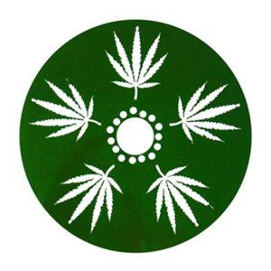Custom weed marijuana cannabis design big rim dust sheild to cover brake caliper and rotor on wheels.