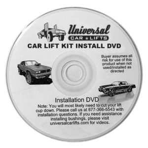 How to install a car lift kit instruction DVD video.