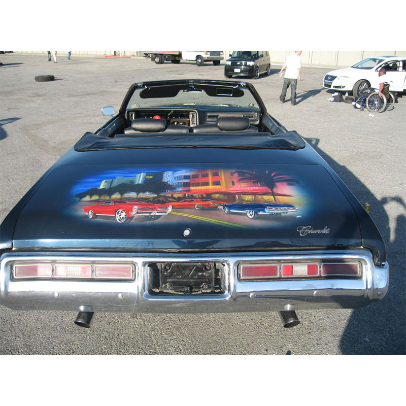 Custom mural painted on this chevy caprice classic cost.