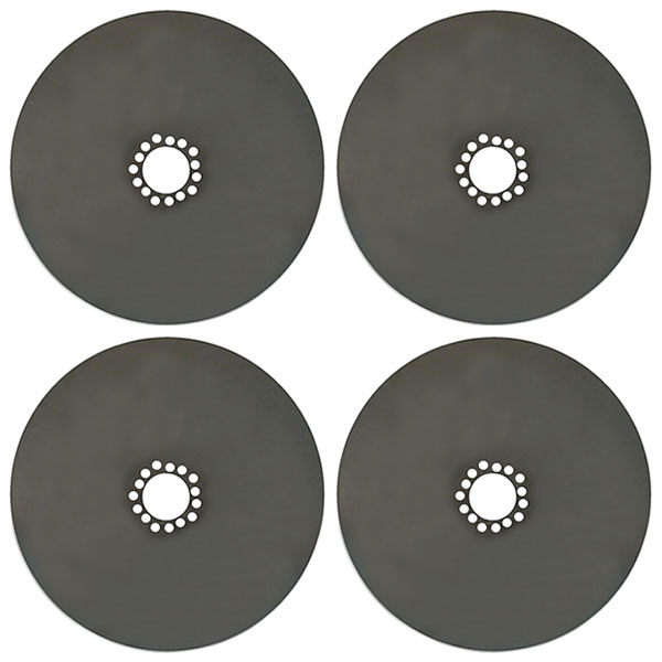 Steel dust shield covers for brake rotors paint, stainless or chrome finish options.