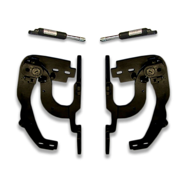 Lambo door hinge kit for Vertical doors look. Butterfly hinges open smoothly with provided lift shocks.
