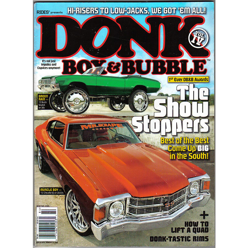 Donk, Box & Bubble Magazine recently featured our custom front wheel drive lift struts. We have these struts available for most front wheel drive cars on the road. Installation is simple and a detailed instruction manual is included.