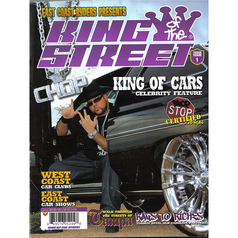 King of the Street Magazine featured cover donk produced by East Coast Ryders.