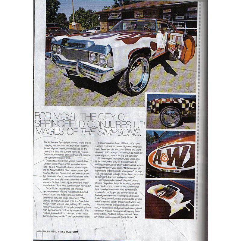 """Rides Magazine RN Customs """"A&W Root Beer"""" - Rim Fitment ..."""