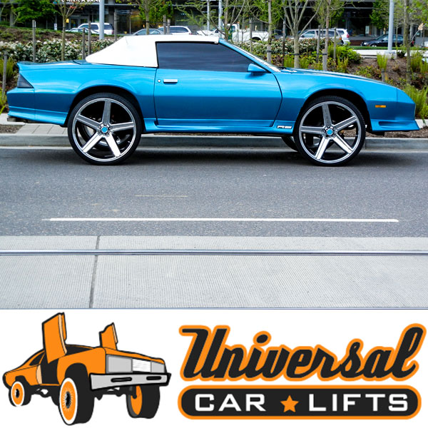 camaro vs trans am kit or conversion for body when using big rims and fitment or lift kits.