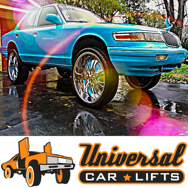 Details about Crown Vic tubular control arms 95-02 front extended lift kit  Marquis Town Car
