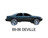 Shop front wheel drive lift strut kits for Cadillac DeVille.