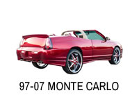 Shop front wheel drive Monte Carlo lift strut kits.