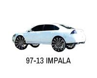 Shop front wheel drive Impala strut lift kit.