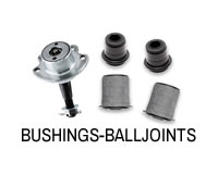 Shop bushings and ball joints for front control arms.