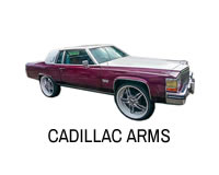 Shop for Cadillac front tubular control arms for lift kit.