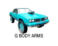 Shop G body front control arms for Cutlass, Monte Carlo, Regal, El Camino, Bonneville, Malibu and Century.