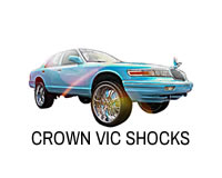 Shop lift shocks for crown victoria, marquis and town car.
