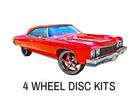 Shop four wheel disc brake upgrade kits for Caprice, Impala, Cutlass, Crown Victoria and more.