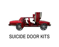 Suicide door kit for rear or front doors on Caprice, Impala, LeSabre and Cadillac type cars.