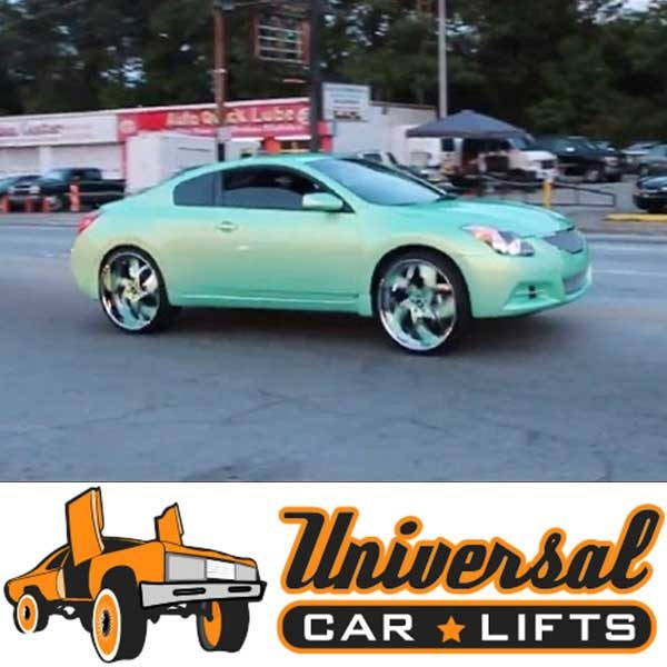 Nissan Altima on 24's 2013-2018 with lift kit.