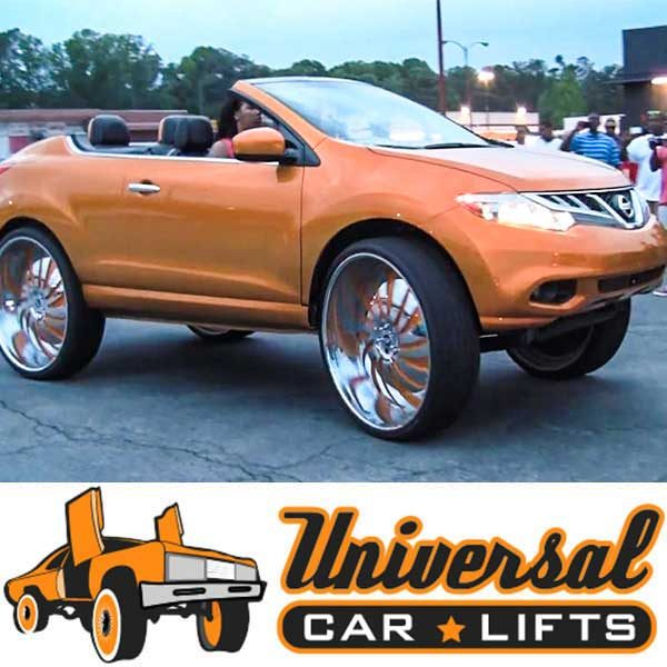 Nissan Murano Donk on 30 inch rims.
